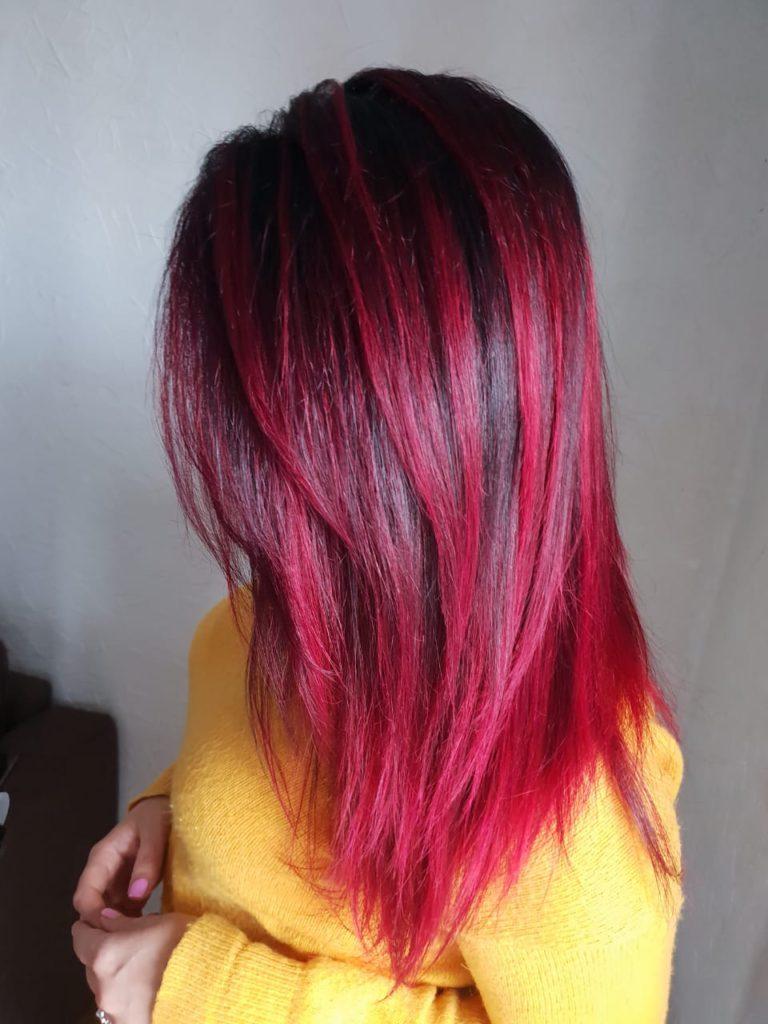 Окрашивание волос, мелирование