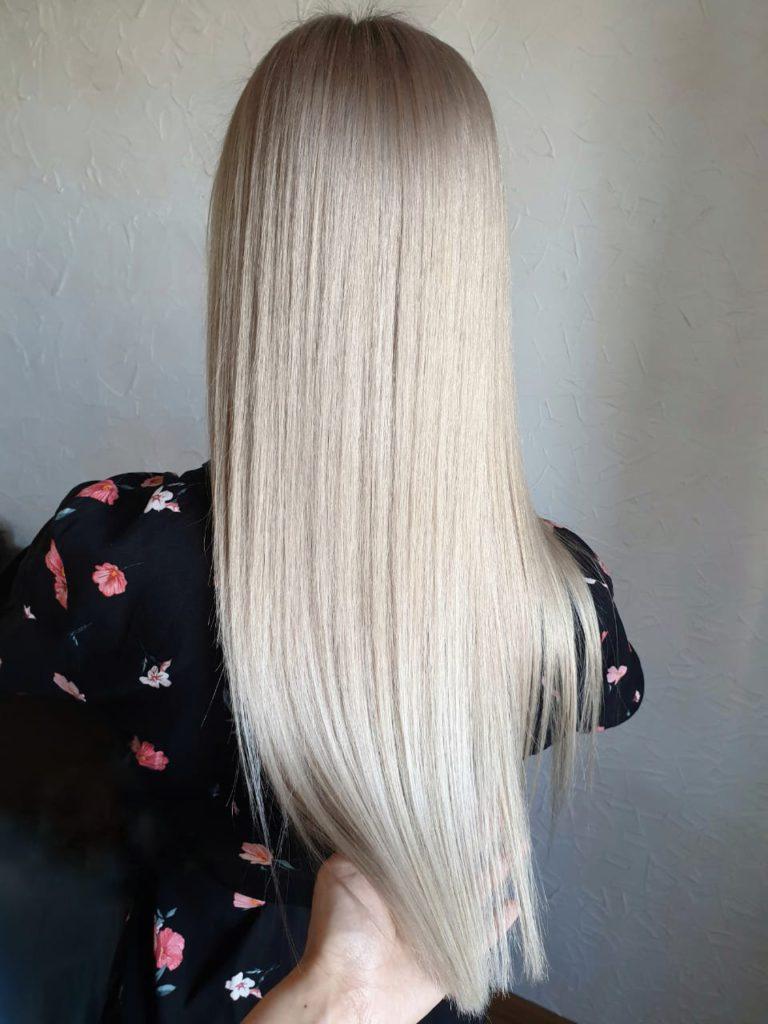 Осветление на длинные волосы